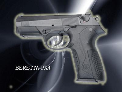 BERETTA PX4口径:9mm製造国:イタリア特徴的なデザインのPX4 。アメリカの警察官達に人気。
