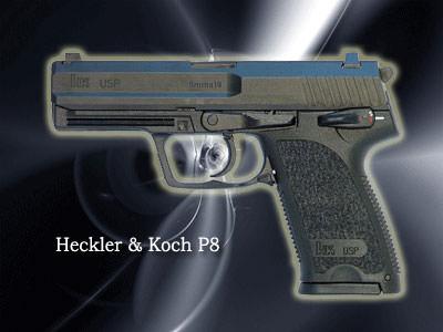H&K P8口径:9mm製造国:ドイツドイツ軍の将校のみが使用。映画「トゥーム・レイダー」でアンジェリーナ・ジョリーが使用したタイプ。