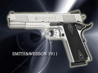 SMITH&WESSON 1911口径:45口径製造国:アメリカ「ダイ・ハード」でブルース・ウィルスが使用。アニメ「ドラゴンボールZ」にも登場。
