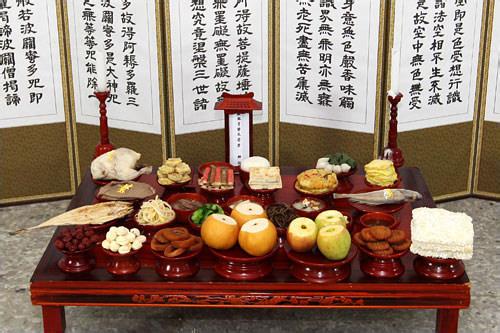 先祖に供える茶礼床