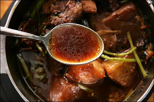 韓方薬剤がたっぷり入った健康スープ