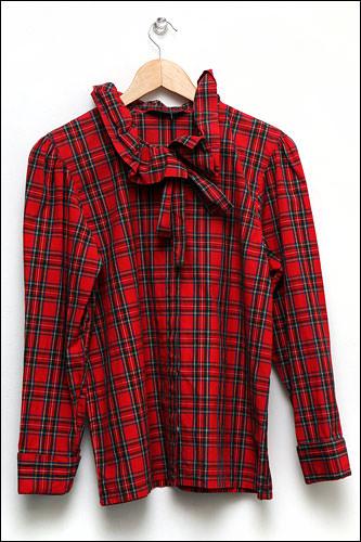 チェックのシャツ 20,000ウォン