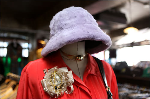 紫の帽子 80,000ウォン