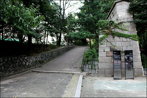 城郭コースの入口地点
