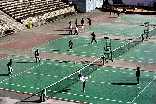慶熙(キョンヒ)大学のテニスコート