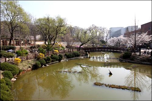 ジェホがよくたたずんでいたベンチはこの池のほとり