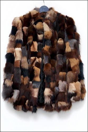 毛皮パッチワークコート1,280,000ウォン