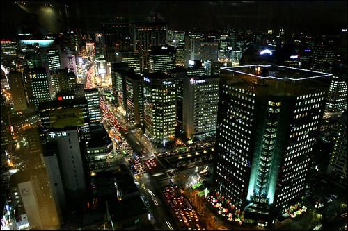 最上階でソウルの夜景も満喫