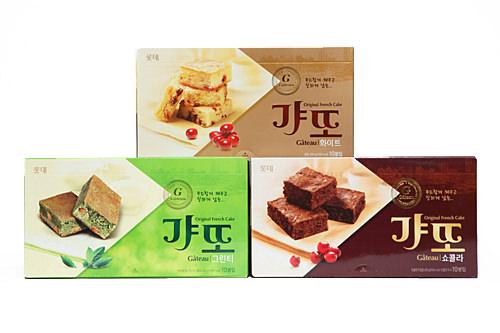 ケーキを意味するガトーの韓国式発音「ギャット」は、しっとりしたブラウニー系のお菓子です。