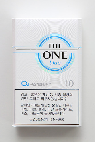 THE ONE(blue) タール1.0ニコチン0.1㎎で4,500ウォン