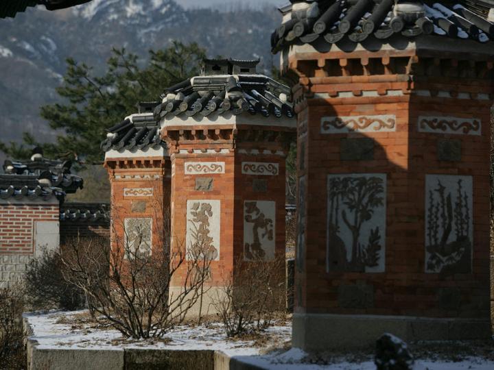 峨眉山庭園の煙突