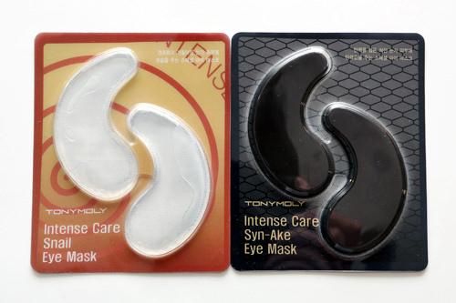 1回分 各2,500ウォン(左)インテンスケアスネイルアイマスク※現在はパッケージが異なります(右)インテンスケアシンエイクアイマスク