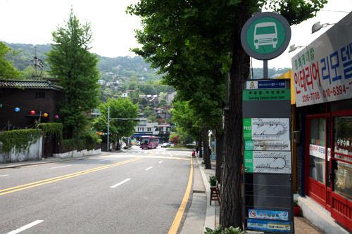 付岩洞住民センターのバス停