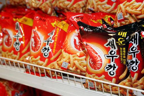 「セウカン」は韓国ならではのピリ辛味も