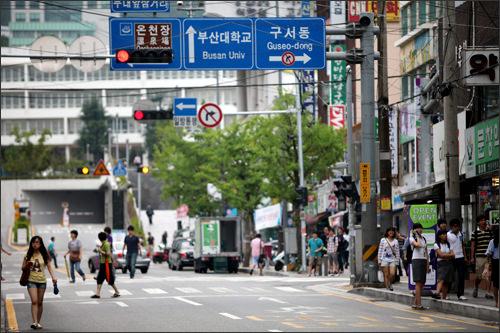 釜山大学正門前