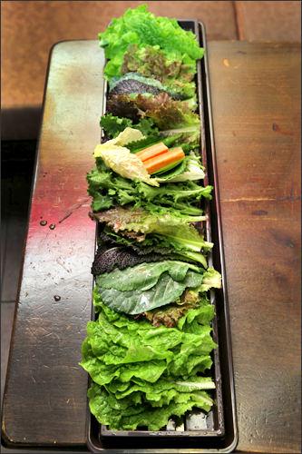 色々な種類の野菜が楽しめる