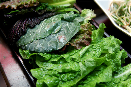 みずみずしく新鮮な野菜がたっぷり