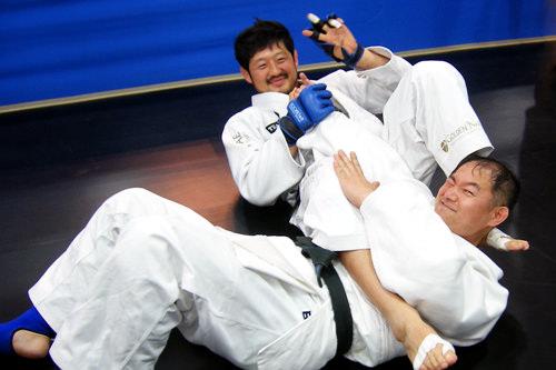 柔道世界選手権銅メダルのユン・ドンシク選手と