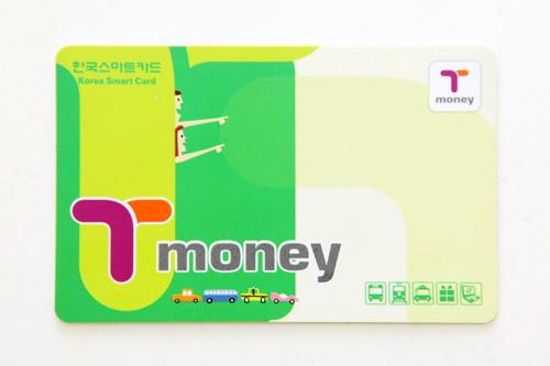 カード型価格:2,500ウォン買える場所:地下鉄、「T-money」加盟コンビニ・街頭販売店