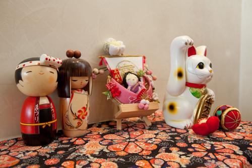 院内の所々に日本文化を垣間見られる