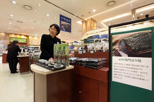 韓国海苔売り場