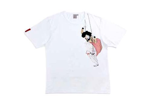 ブランコで遊ぶ女性の絵画の一部をポイントにしたTシャツ(26,000ウォン)
