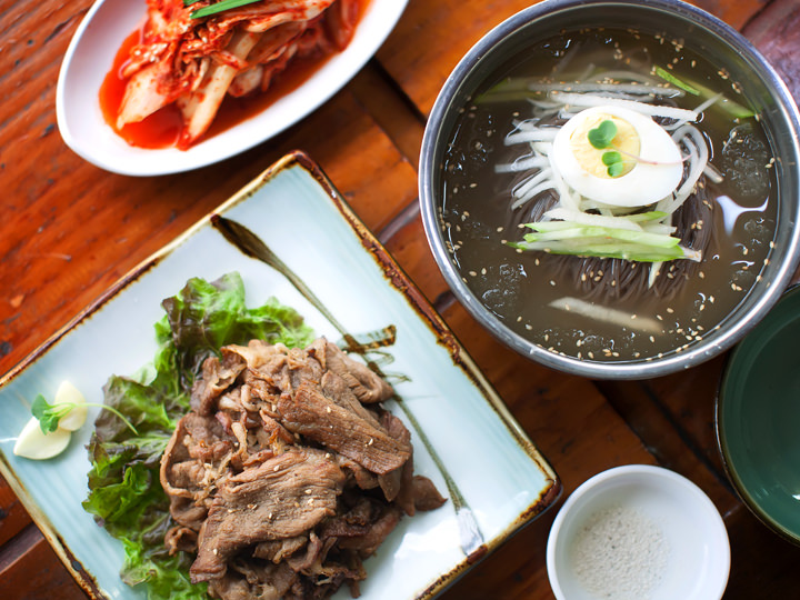 水冷麺(ムルネンミョン) 7,000ウォン※ランチタイム(11~15時)は豚カルビがサービス