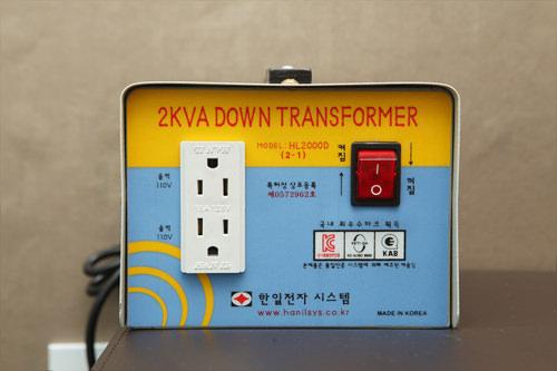 変圧器はホテルで貸出している場合もあります