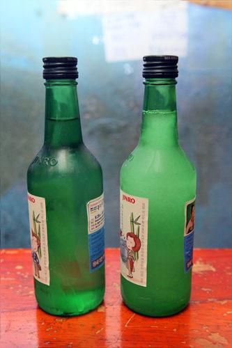 シャリシャリのシャーベット焼酎(右)