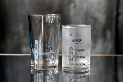 目盛付グラスはサイズが2種類