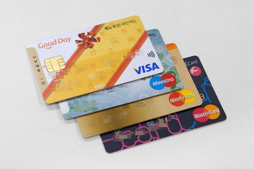 様々な種類のクレジットカード