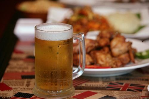 チキンには生ビールがつきもの