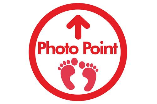 錯視効果が最大になる「Photo Point」