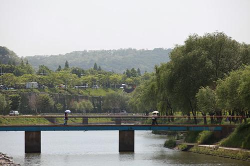 盤浦漢江公園漢江の中央部にある盤浦大橋の南端にある公園。橋から流れる月光レインボー噴水ショーは有名です。人工島のソレ島には自然がいっぱいで散策にぴったり。