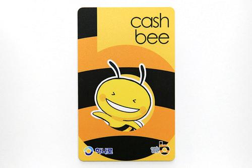 2012年より流通しているキャッシュビー機能が追加されたハナロカード