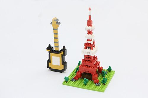 nanoblock(日本)ギター、東京タワー各14,000ウォン