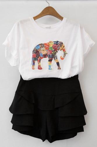 象プリントコットンTシャツ30,000ウォン キュロット 45,000ウォン