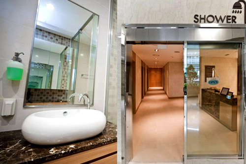 シャワールーム年中無休、7:00~22:00、無料