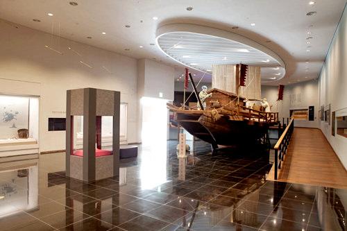 海上強国であった百済時代の船の模型