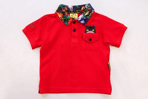 さりげない襟のアロハ柄がおしゃれポロシャツ 59,000ウォン