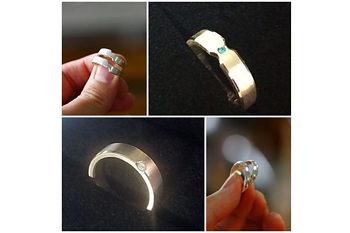 宝石入り指輪の完成イメージ
