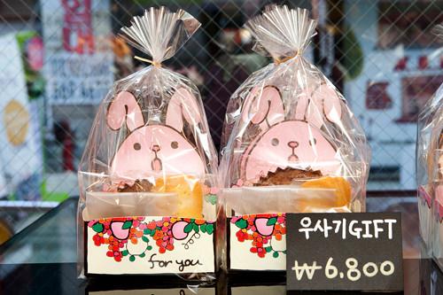 「ウサギGIFT」というセット商品。日本語をハングル読みにしたユニークな名前はオーナーのアイディア