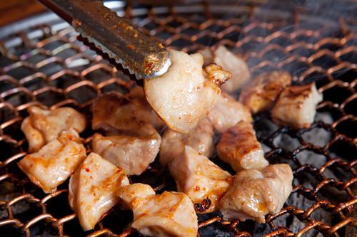 ギアラ(牛の第4胃袋)甘みがあり食感がいいギアラ。噛めば噛むほど口の中で肉の旨みが広がります。