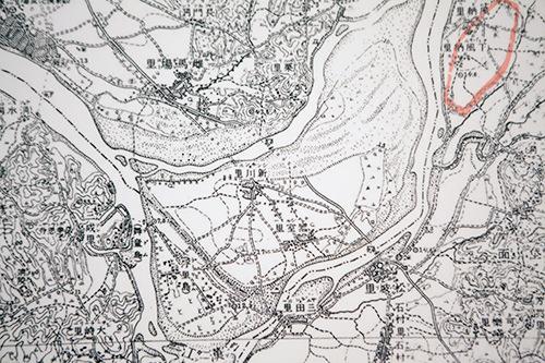 日本統治時代に描かれた蚕室島の地図(漢城百済博物館所蔵)