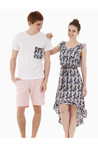 左・Tシャツ 32,000ウォンハーフパンツ 55,000ウォン右・ワンピース 68,000ウォン