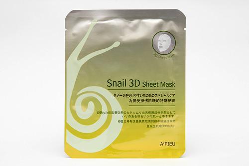 スネイル3Dシートマスク 1,000ウォン