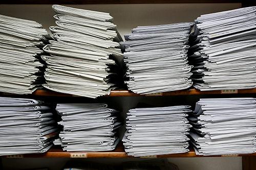 オフィスの一角に並ぶ韓国の主要各紙