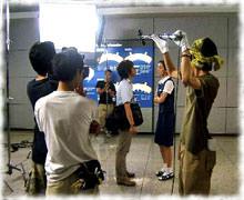 「まぶしい一日~空港男女」の撮影風景