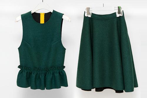 ラッキーアイテムグリーンの服・カバン例えば?バラで着てもおしゃれ!ロデオ通りのセレクトショップ「boy. + by supermarket」のグリーンのセットアップ