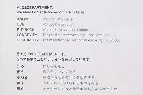 「D&DEPARTMENT」のデザイン基準5か条